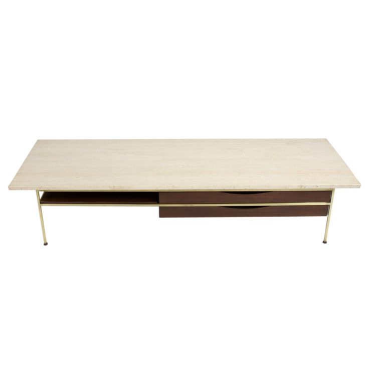 Paul McCobb Travertine Top Coffee Table I Have This Piece W A