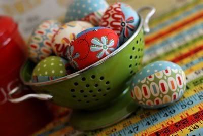 fabric eggs with tutorial