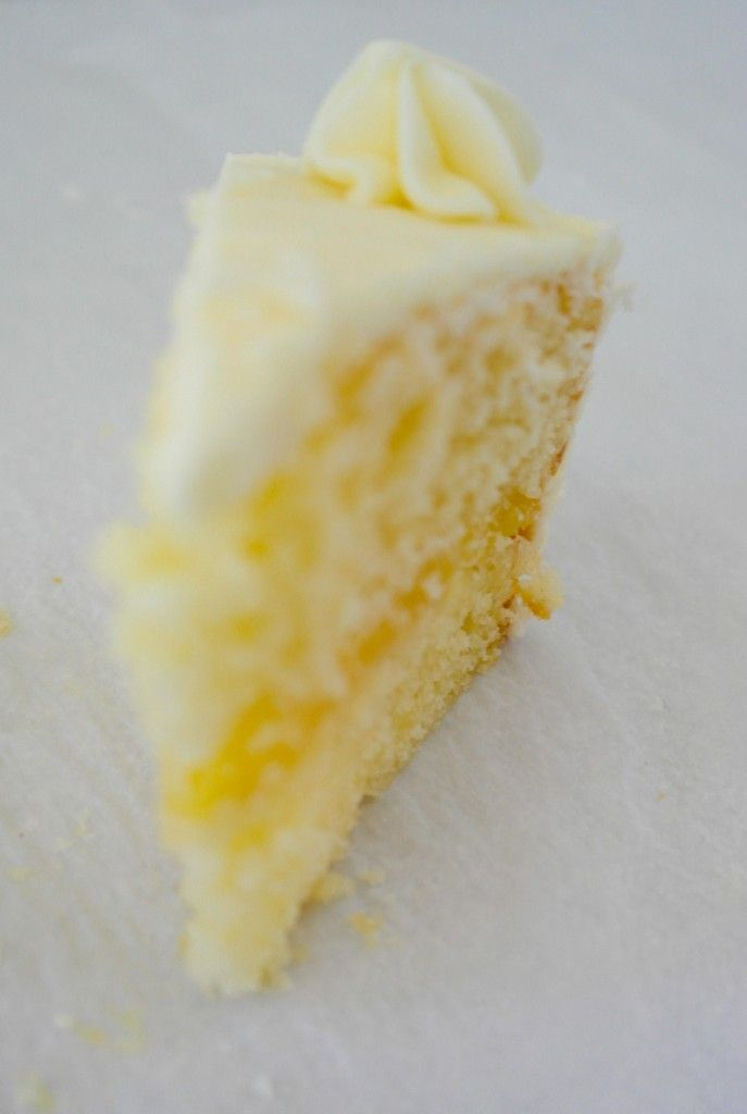 Lemon Layer Cake with Lemon Curd Filling (I see a cupcake instead of a ...