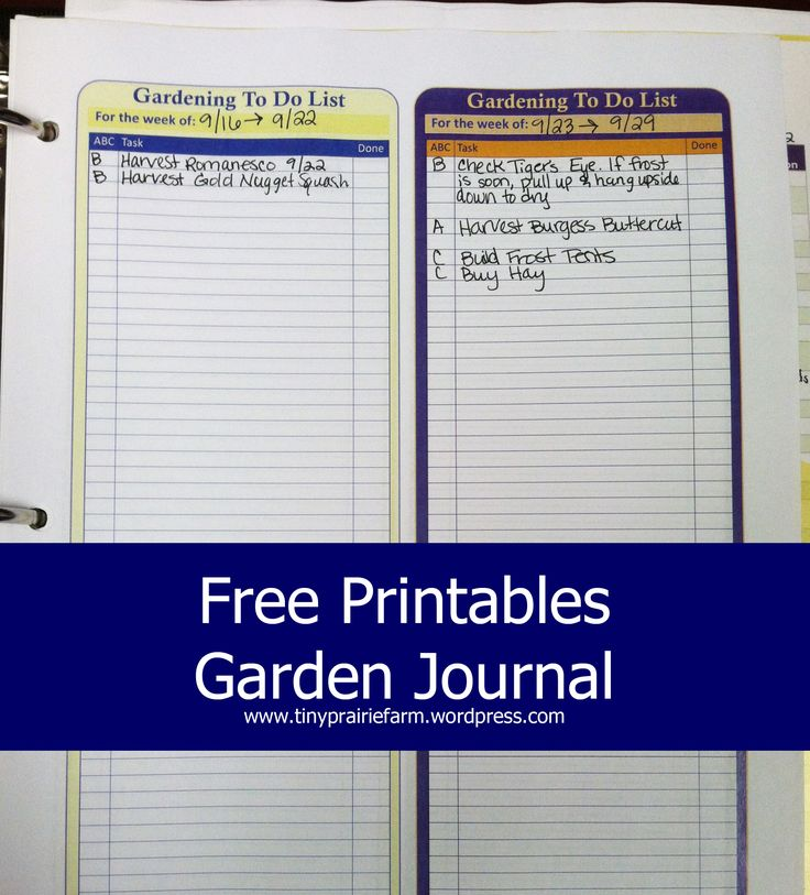 This is a photo of Wild Free Printable Garden Journal