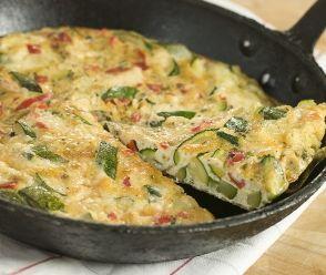 Low carb Ricotta-Zucchini Frittata | FaveHealthyRecipes.com