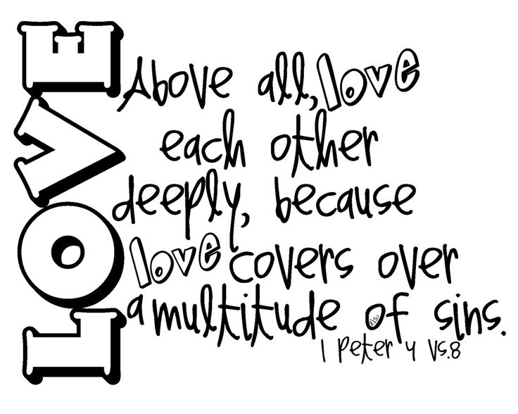 love covers a multitude of sins.