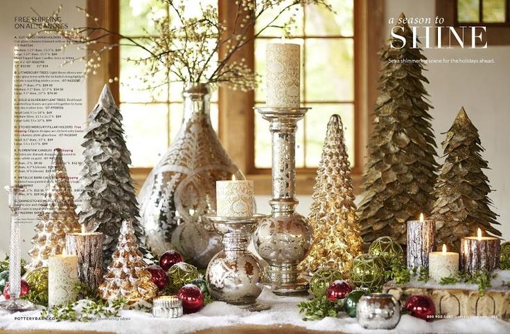 Holiday decorations christmas holiday decor pottery barn rachael edwards - Pottery barn holiday bedding ...