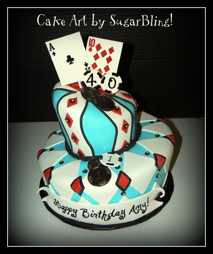 made this topsy turvy cake for a 40 birthday party at an area casino ...