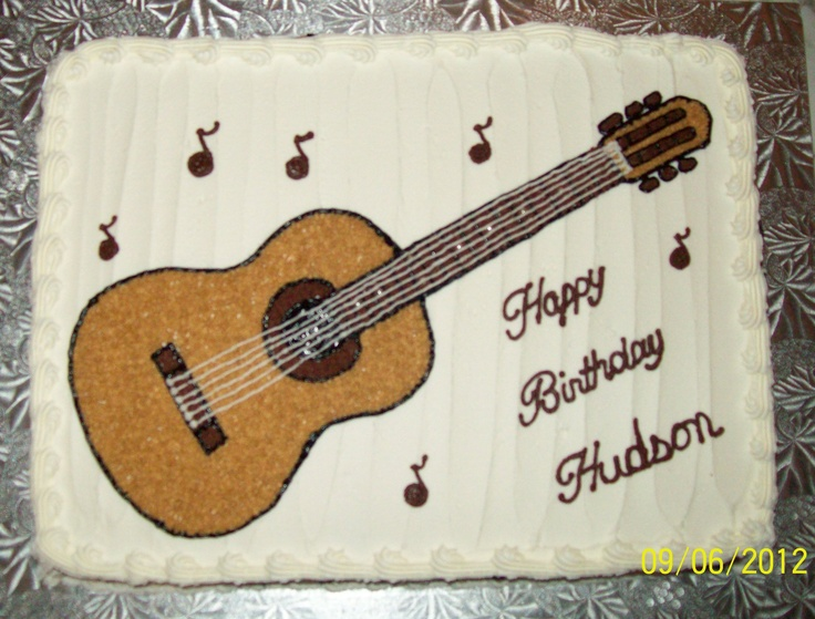 Pin Acoustic Guitar Cake Would Make A Top Wedding Cakes To ...