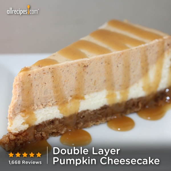 ... cheesecake and pumpkin pie. (Double-Layer Pumpkin Cheesecake) http