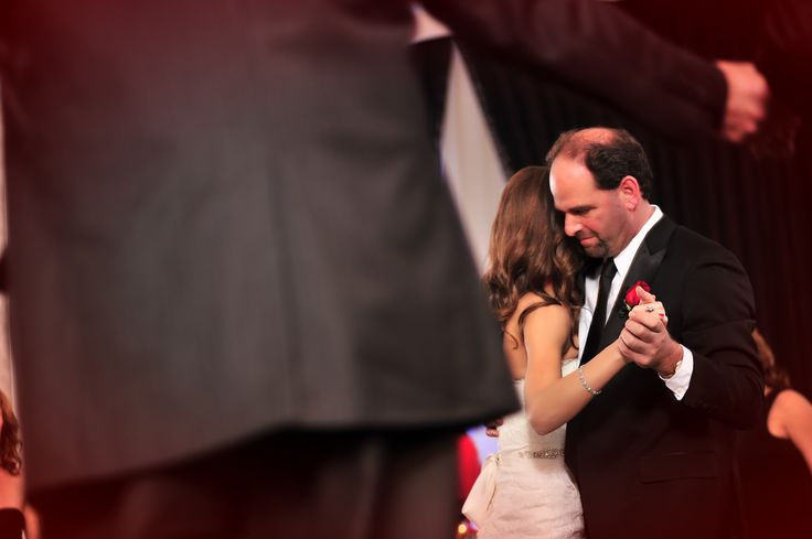 Reception candid photos father daughter dance color scheme red