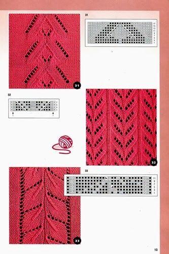 Ажурные полосы для вязания спицами 42