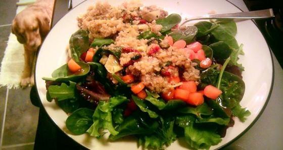 Warm Quinoa over Fresh Greens...yum! | Let me see ya workout! | Pinte ...