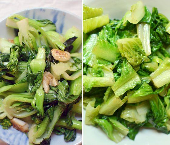 Stir-Fried Lettuce (or Baby Bok Choy) with Garlic Chiles | Recipe