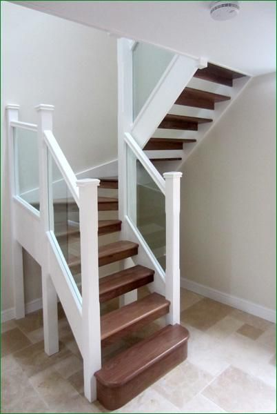 Winder staircase for a tight space - Tight space staircase design ...