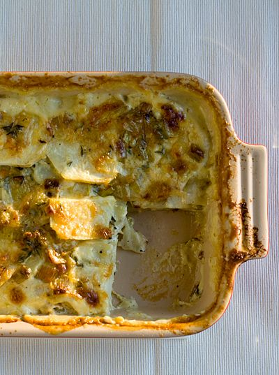 Celery Root, Potato and Leek Gratin | CSA ideas - Winter! | Pinterest