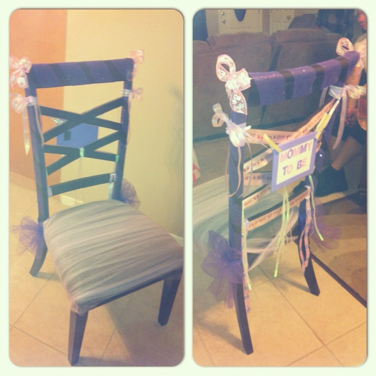 baby shower chair for my sister in law mom to be i used tulle