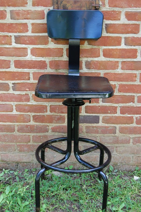 Vintage industrial drafting chair drafting stool architect chair i
