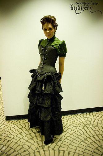 Steampunk Fashion Women Dresses victorian steampunk cl...