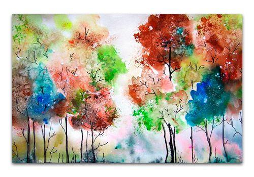 La primavera cuadros online modernos oleo acuarela - Ver cuadros modernos ...