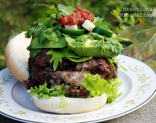 Cherry Habenero Hot Sauce Spiked Burgers Stuffed with Cherry Salsa and ...