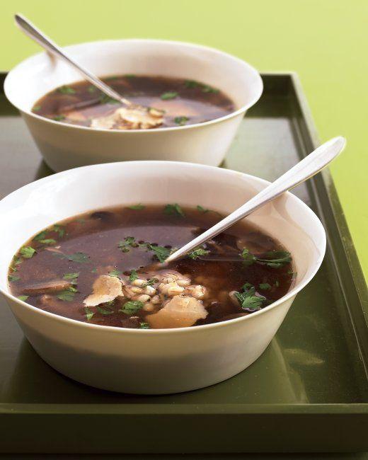 Quickest Mushroom-Barley Soup- Martha Stewart