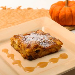 LorAnn Oils, Inc. - Pumpkin Bread Pudding with Caramel Rum Sauce