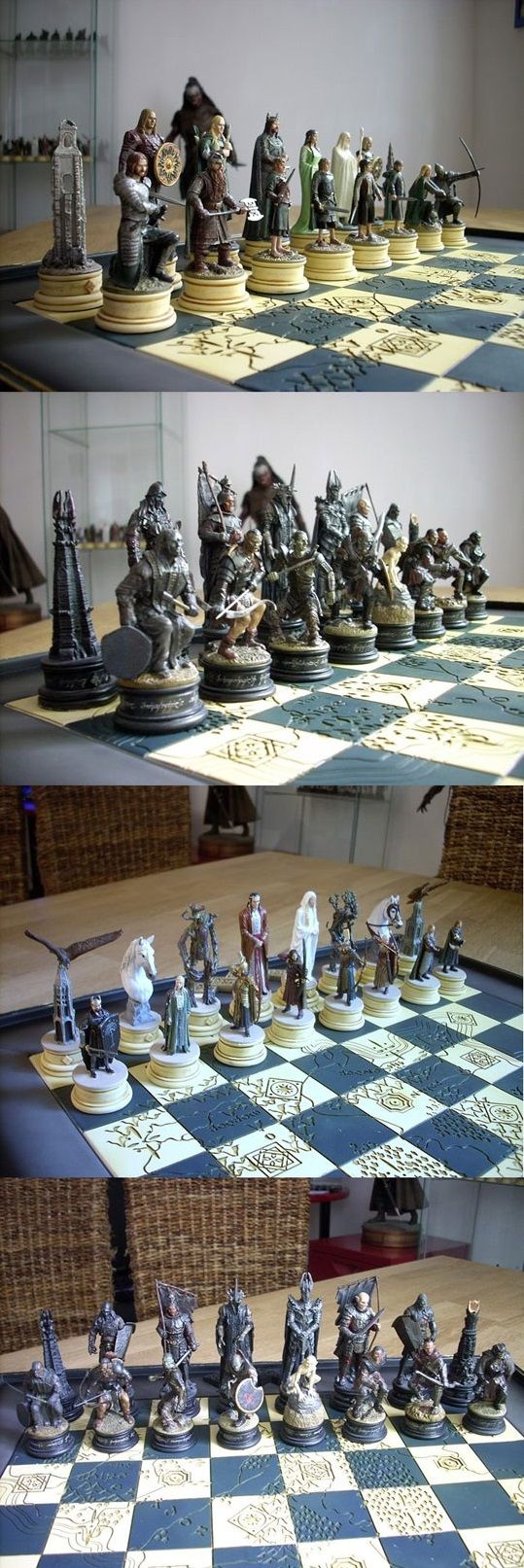 Awesome chess set books movies yellow boxes pinterest - Lord of the rings chess set for sale ...