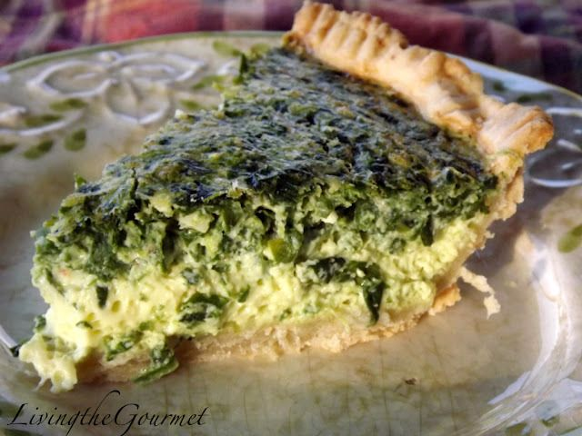 Asparagus, Spinach, & Feta Quiche Recipe — Dishmaps