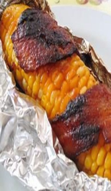 Grilled Bacon-Wrapped Corn on the Cob | Recipe