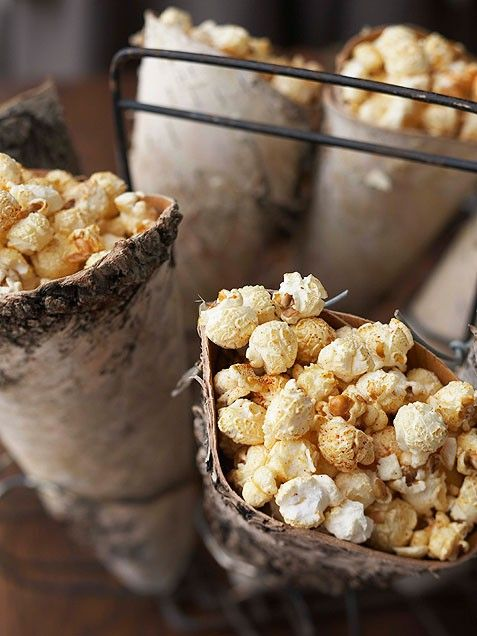 watching holiday movies by the fire: Black Truffle & Parmesan Popcorn ...