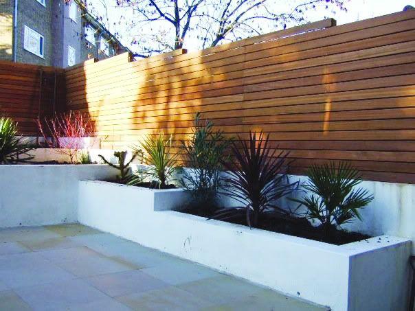 Contemporary Backyard Fences : Contemporary Wooden fence  Backyard  Pinterest