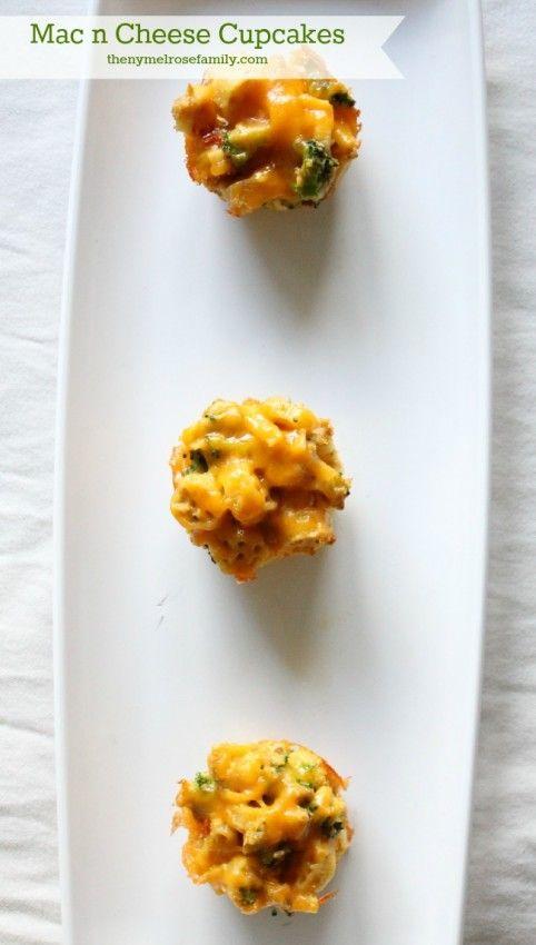 Mac n Cheese Cupcakes www.thenymelrosefamily.com #macncheese #easymeal