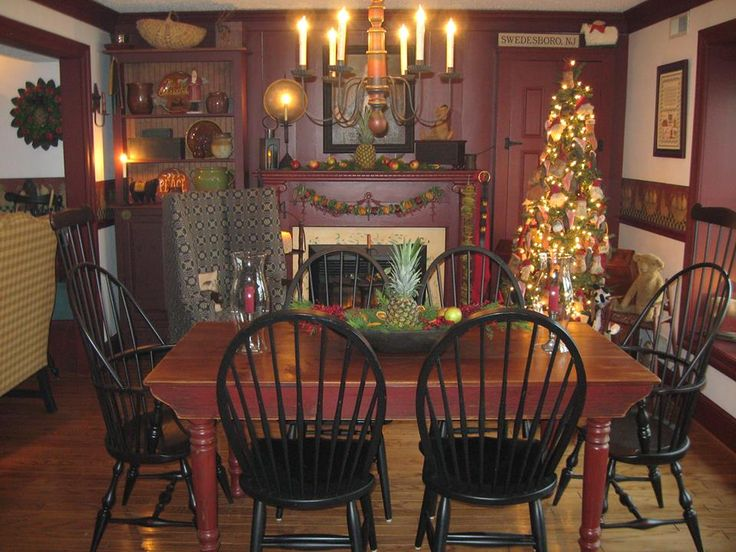 love this home! | Early American Interiors | Pinterest