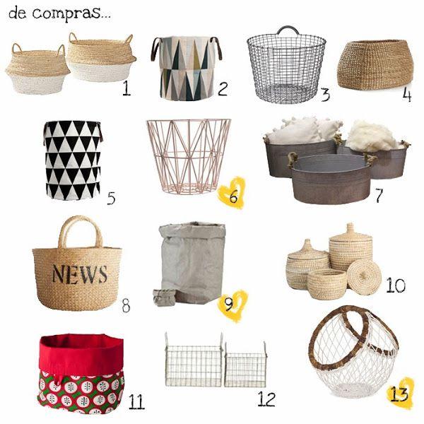 COM  Decorando con CESTAS 2Cesto para la ropa sucia Spear Basket de