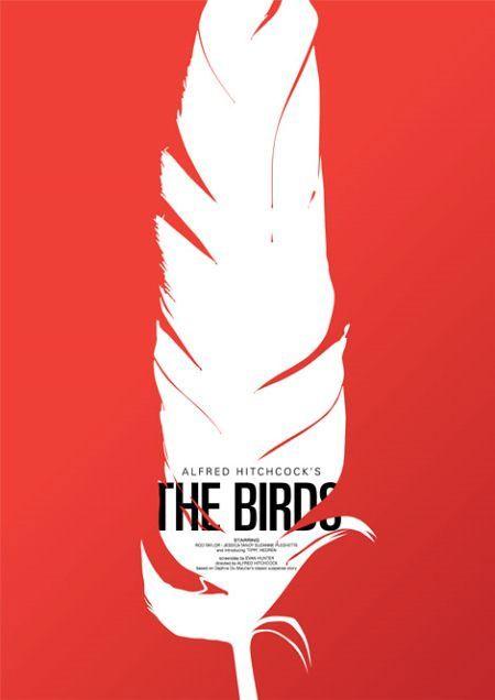 "Saul Bass ""The Birds"" Movie Poster"