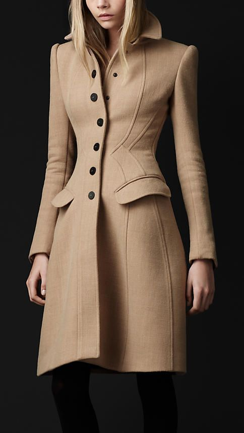 Crêpe Wool Tailored Coat #Burberry