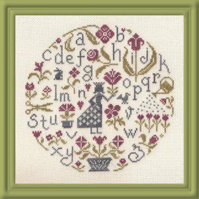 Jardin priv cross stitch pinterest for Jardin prive