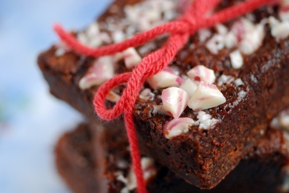 peppermint crunch brownies #vegan | Sweets...Vegan! | Pinterest