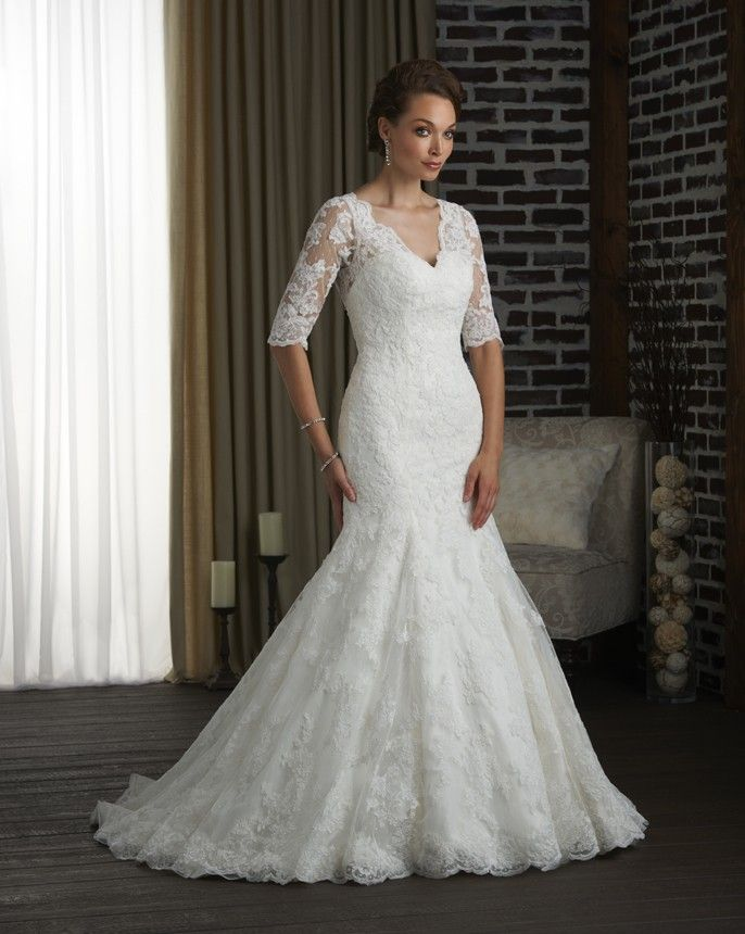 bonnybridal wedding gowns with sleeves