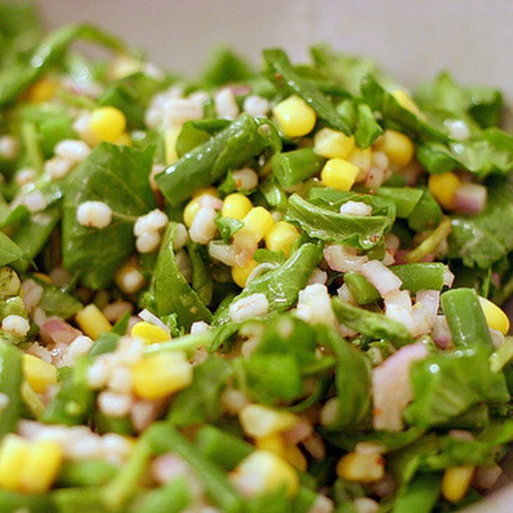 Barley and Corn Salad with Arugula and Haricot Vert Recipe