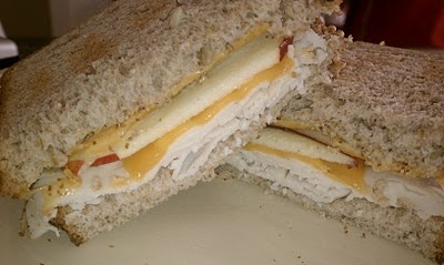 Turkey, Apple & Cheddar Cheese Sandwich | Bagged Lunches | Pinterest