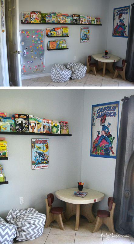 Shared Boys Bedroom Avengers Super Hero Theme