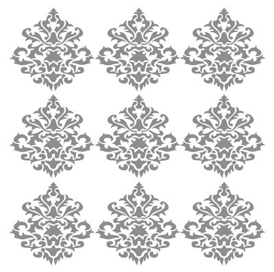 Damask vintage wall decals for Damask wall mural