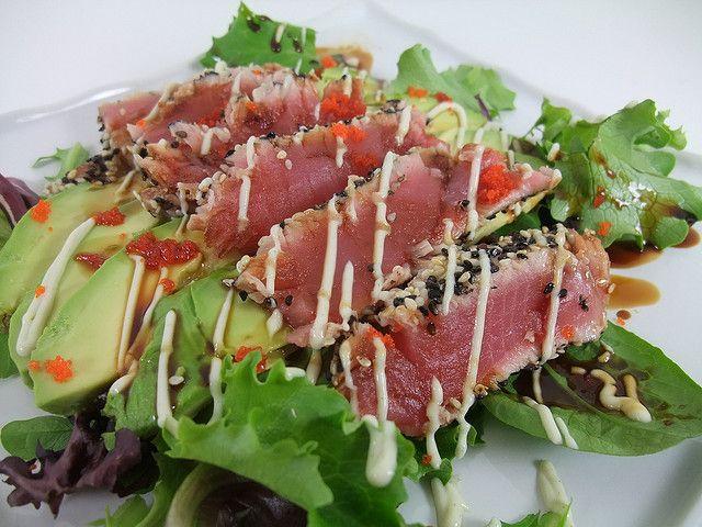 Pan-Seared Sesame-Crusted Tuna   Flickr - Photo Sharing!
