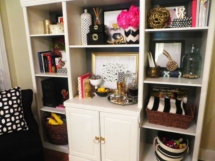 Gold & Stripes: Craiglist Wall Unit Turned Fabulous
