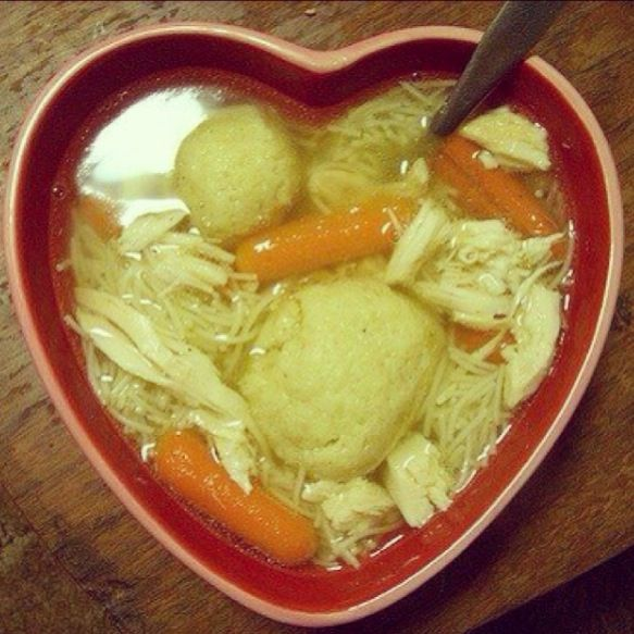 Chicken matzo ball soup!! Addicted! | Soup for the Soul | Pinterest