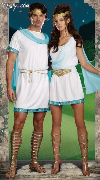Greek God And Godess Couples Costume I Holidays Pinterest