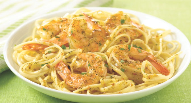 shrimp scampi over whole wheat shrimp scampi over whole grain linguini ...