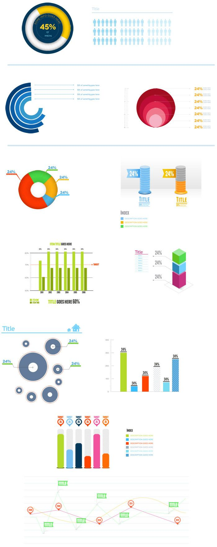 Infographic graph psd