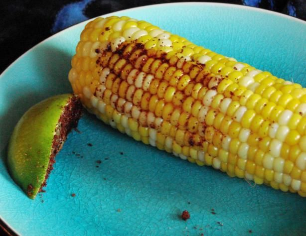Chili-Lime Rubbed Indian Corn On The Cob Recipe - Low-cholesterol.Food ...