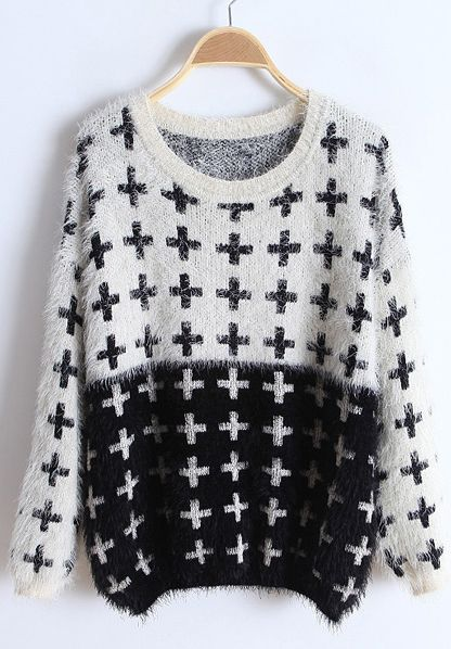 Plus Embroidery Sweater <3