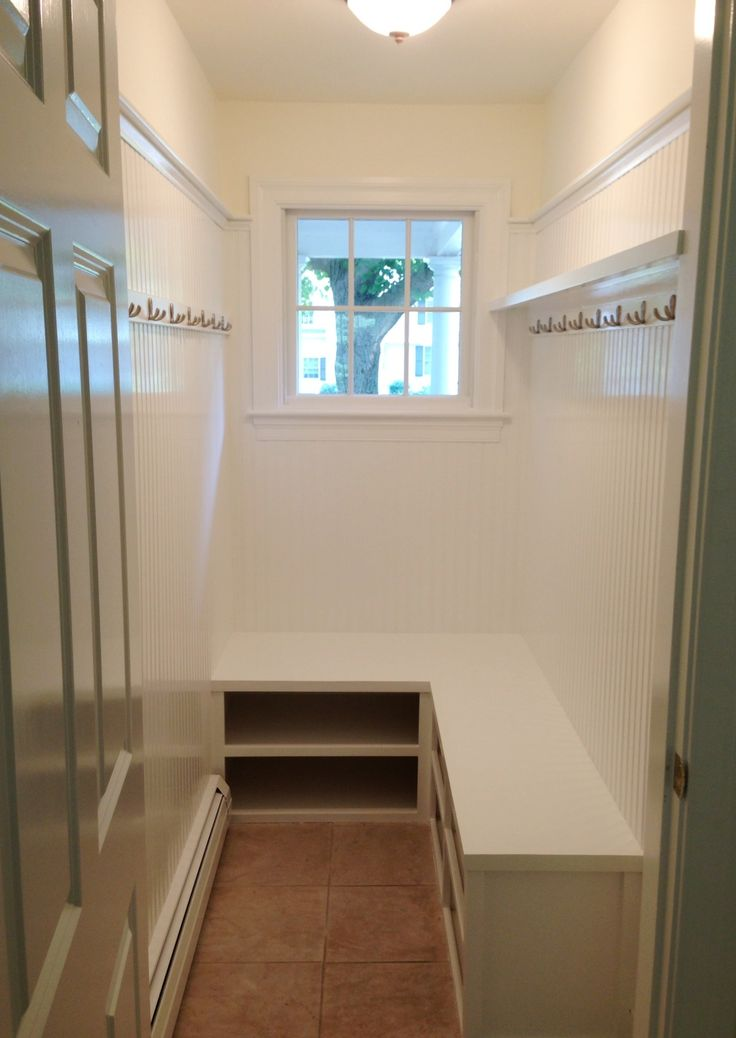Mudroom Taking Inspiration From Pinterest With The L Shaped Bench Images Frompo