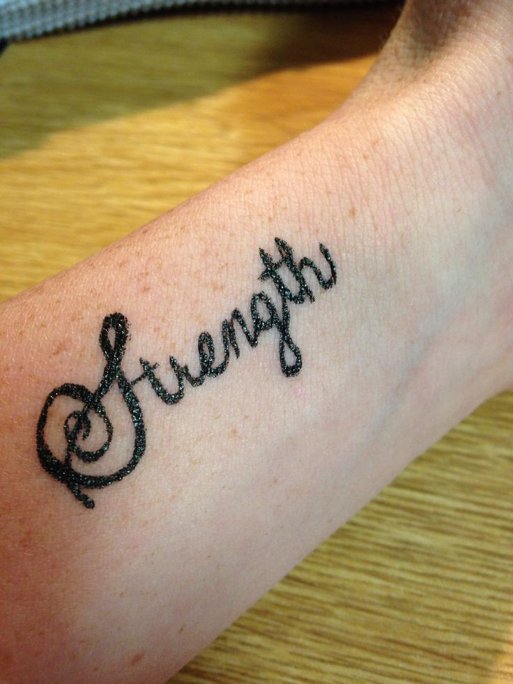 Strength tattoo wrist tattoo